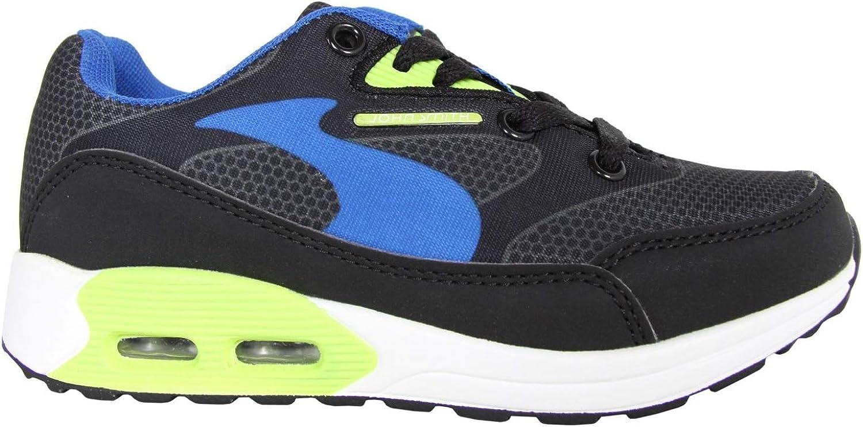 Zapatillas Deporte de Niño y Niña JOHN SMITH RESO M JR 15I Negro-Verde Talla 31: Amazon.es: Zapatos y complementos