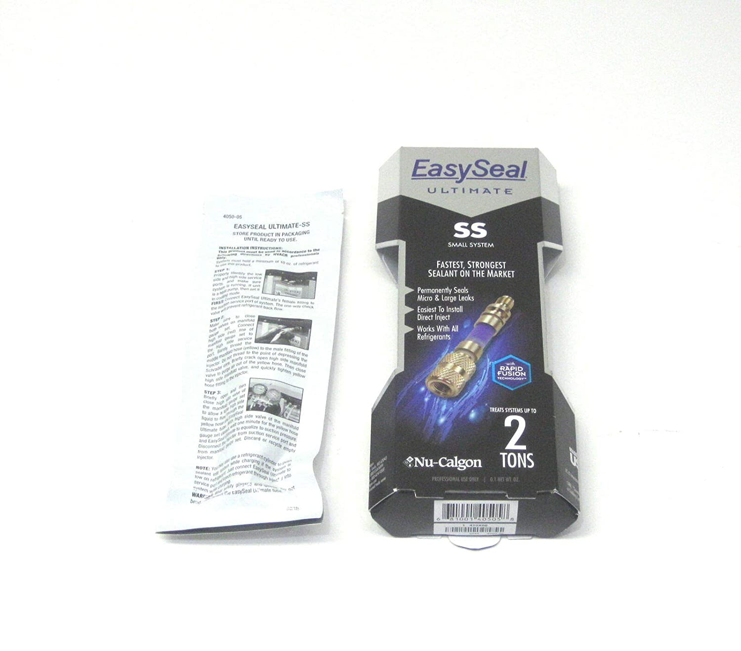 Nu-Calgon 4050-05 EasySeal-SS Direct Inject Refrigerant Leak Sealant, Treats Fractional to 1.5 Tons