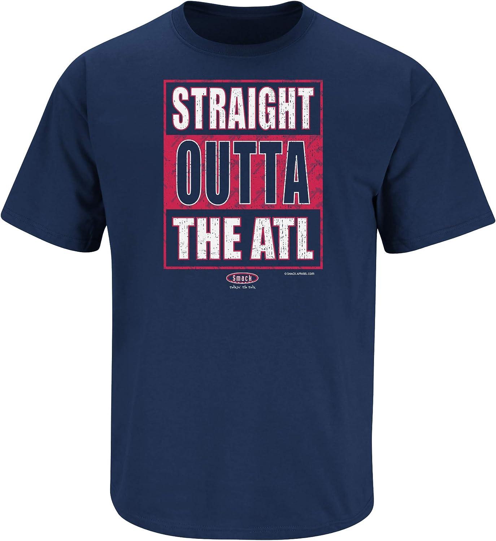 Sm-5x Straight Outta The ATL Navy T-Shirt or Tank Top Smack Apparel Atlanta Baseball Fans