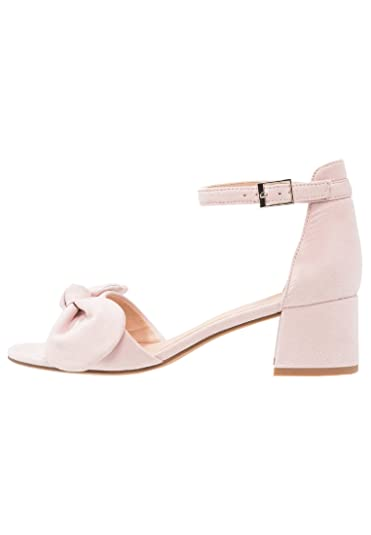 f328e4c5cc5 ANNA FIELD Mid Heel Sandals for Women - Ankle Strap Sandals   Small Heel -  Rose