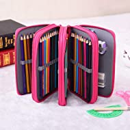 f6a6c75efd70 Pencil Case Handy Wareable Oxford Colored Pencil Pouch Professional 4  Layers and 4 Zippers 72 Inserting