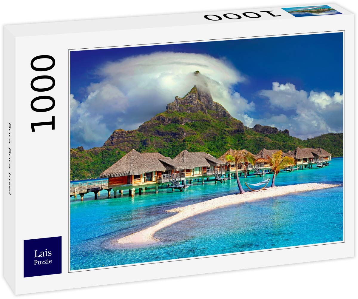 Amazon Com Lais Jigsaw Bora Bora Island 1000 Pieces Toys
