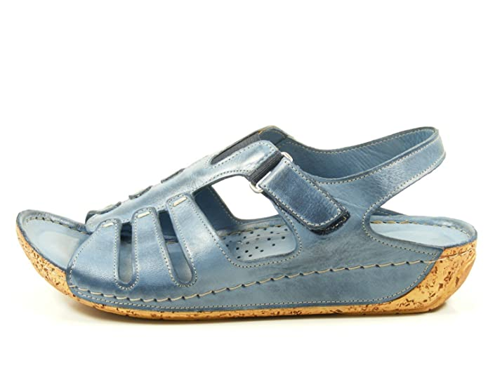Gemini 320291-02 Schuhe Damen Keil Sandalen Sandaletten, Schuhgröße:42;Farbe:Blau