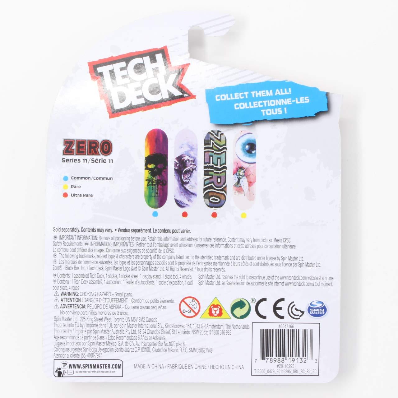 Mini Fingerboards Zero Skateboards Ultra Rare Series 11 Bold Feedback Complete Deck