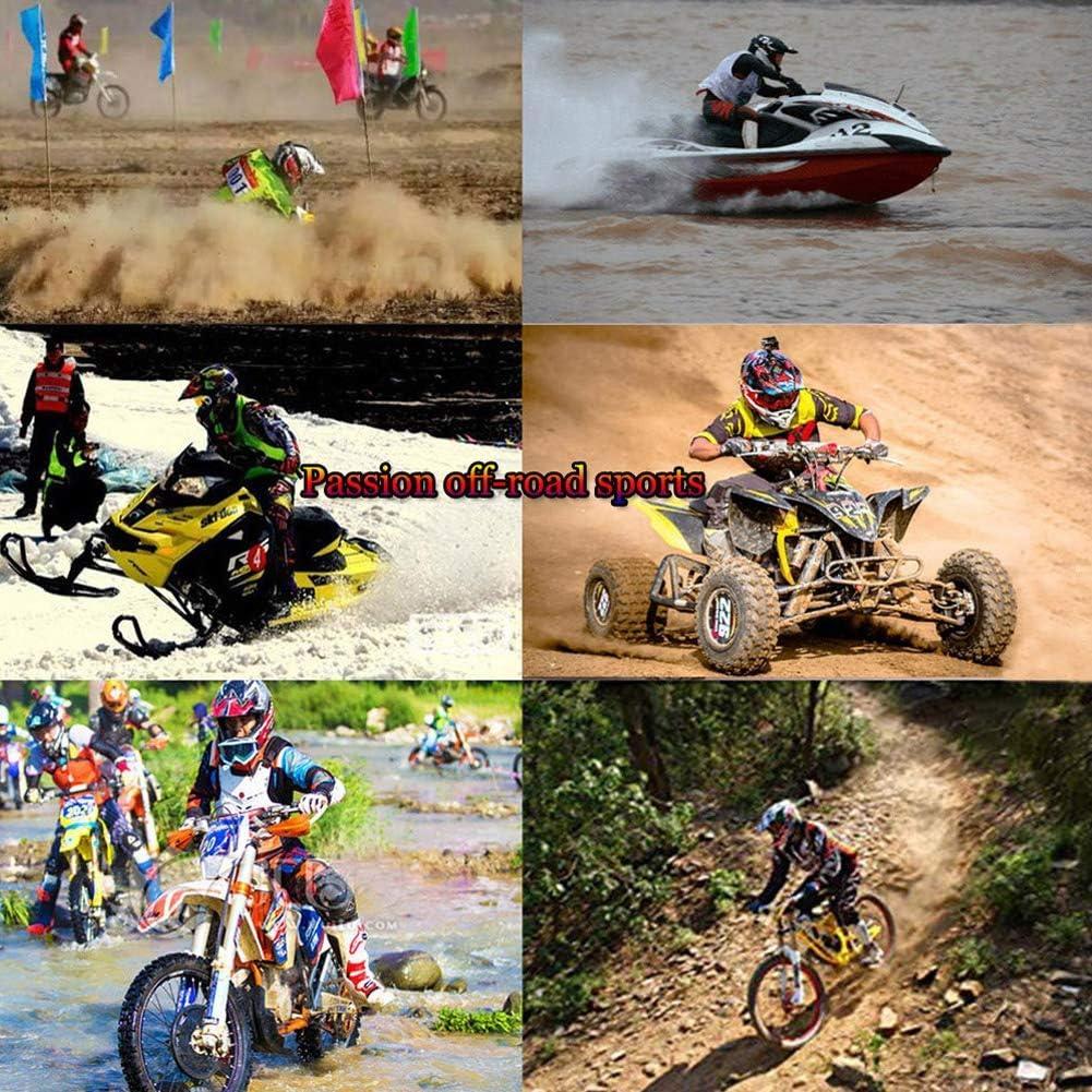 Kostenlose Handschuhe, Brille, Schutzbrille Black and yellow,S:52-56 cm MXYMC Motocross Helm,Kinder Motocross MX Helm MX BMX Quad ATV Motorradhelm Motorrad