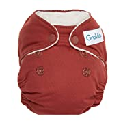 GroVia Newborn All in One Snap Reusable Cloth Diaper (AIO) (Marsala)