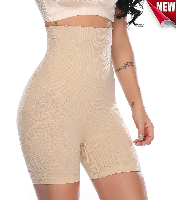 SLIMBELLE Damen Hohe Taille Shapewear Panty Thigh Slimmer Butt Lifter Unterwsche Panties Slip Taillenformer Nahtlos Unterhose Miederhose