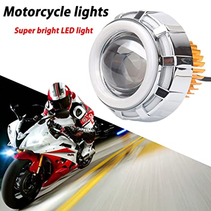 TABEN U12 - Faro proyector LED para motocicleta CREE Angel Eyes ...