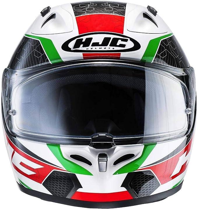 HJC 125701XS Casco Moto XS Verde//Rosso