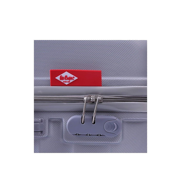 Lee Cooper Harvey 4 Roues Pack de 3 valises Trollet Rigide Gris ABS