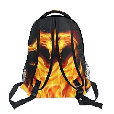 Amazon.com | LORVIES Fire Dragon Casual Backpack School Bag Travel Daypack | Kids Backpacks