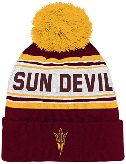 finest selection 3ee47 c6afc NCAA by Outerstuff NCAA Arizona State Sun Devils Kids   Youth Boys Jacquard Cuffed  Knit Hat