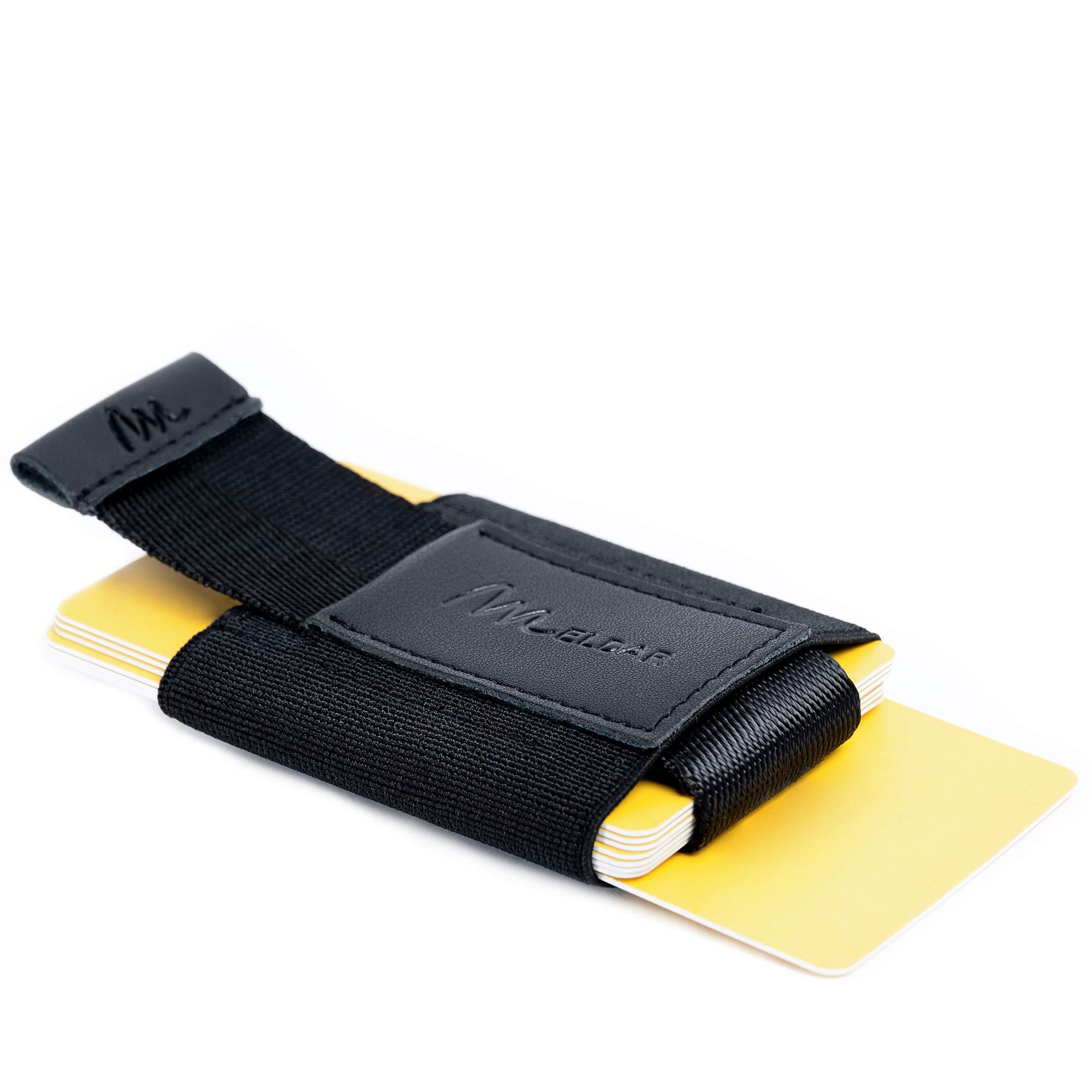 Meldar Tarjetero Ultra Slim Unisex. PortaTarjetas de Cuero con Bolsillo Independiente para Billetes y Monedas