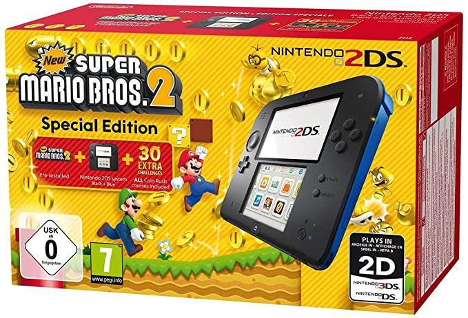 Console Nintendo 2ds Noir Bleu New Super Mario Bros 2 Amazon
