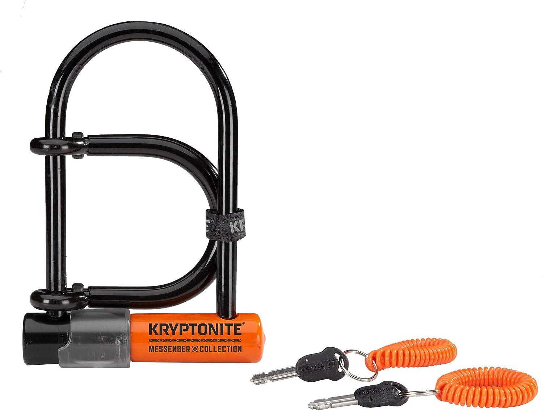"""9.5/"""" x 4/"""" inch Heavy Duty Steel Bike U Lock Bicycle Cycling with Bracket 2 Keys"""