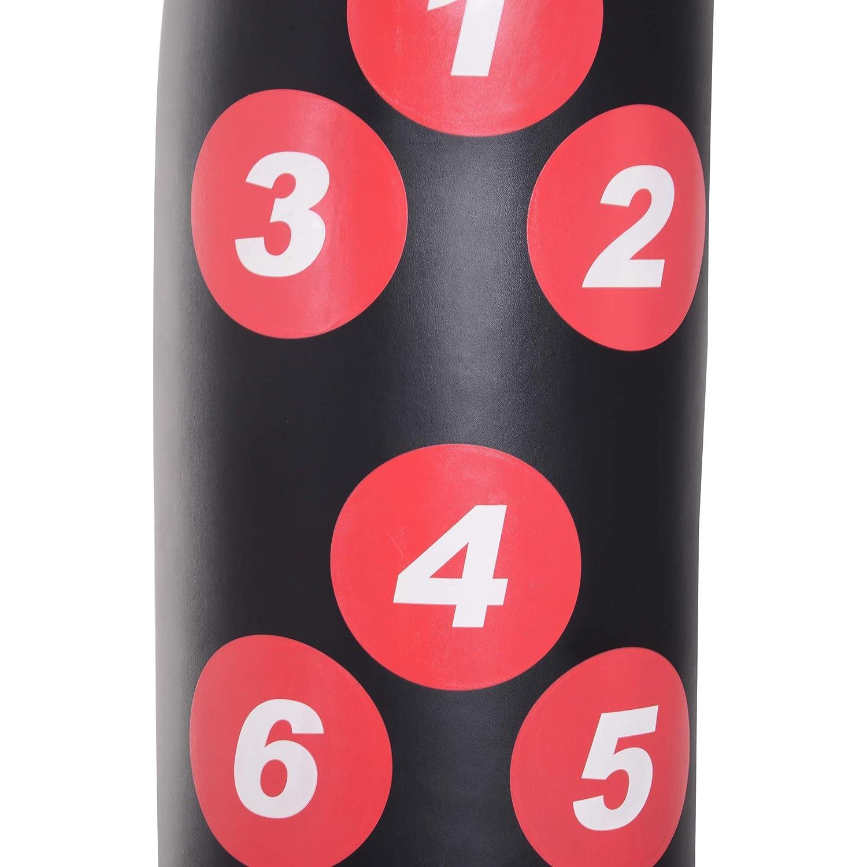 HOMCOM Saco de Boxeo de Pie 165cm Sacos de Suelo con Soporte para Rellenar Agua o Arena para Adultos y Ni/ños