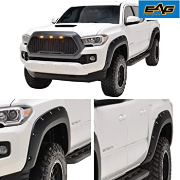 Amazon Com Eag Front And Rear Fender Flares Abs Pocket Rivet Style Fit For 16 20 Tacoma Automotive