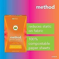 Method Dryer Sheet, Ginger Mango, 80ct