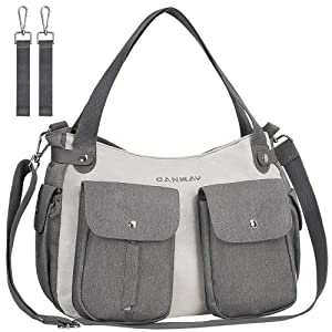 Diaper Bag Tote, Nappy Changing Bag Convertible Travel Baby Diaper Bag for Men Women Maternity Bag Waterproof with Insulated Pockets, Shoulder and Stroller Straps