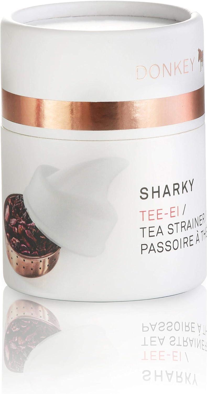 4.5 cm Donkey Products Sharky Tee Ei Teeei mit Haiflosse Teesieb Teefilter Ø ca