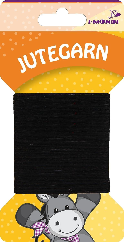 i-mondi® Hilo de yute para bordar tejer color negro largo 10 m Ø ...