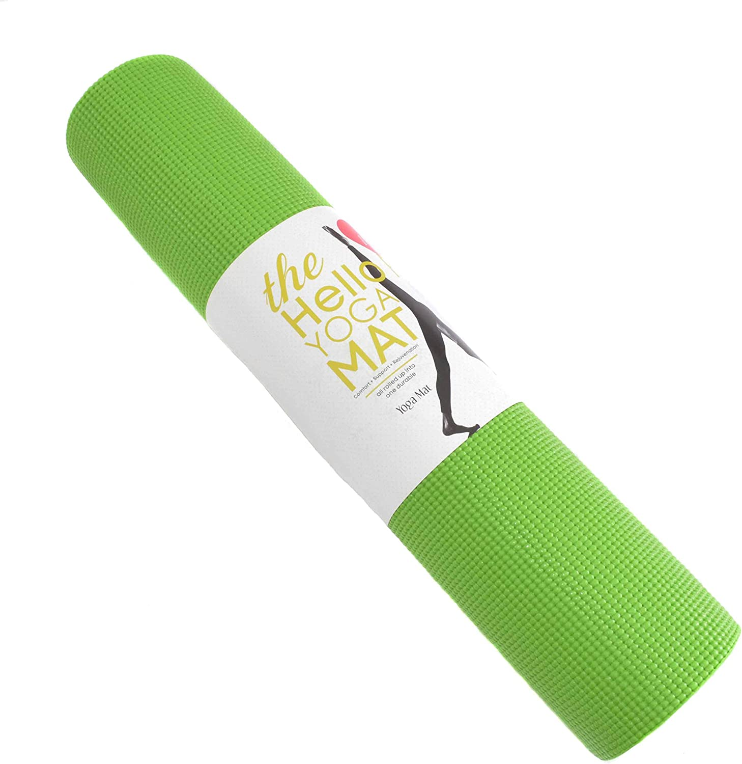 Hello Fit - Thick Yoga Mats - Economy Studio 10-Pack - Non-Slip - Lead and Latex Free - 74 x 24 x ¼ Inches