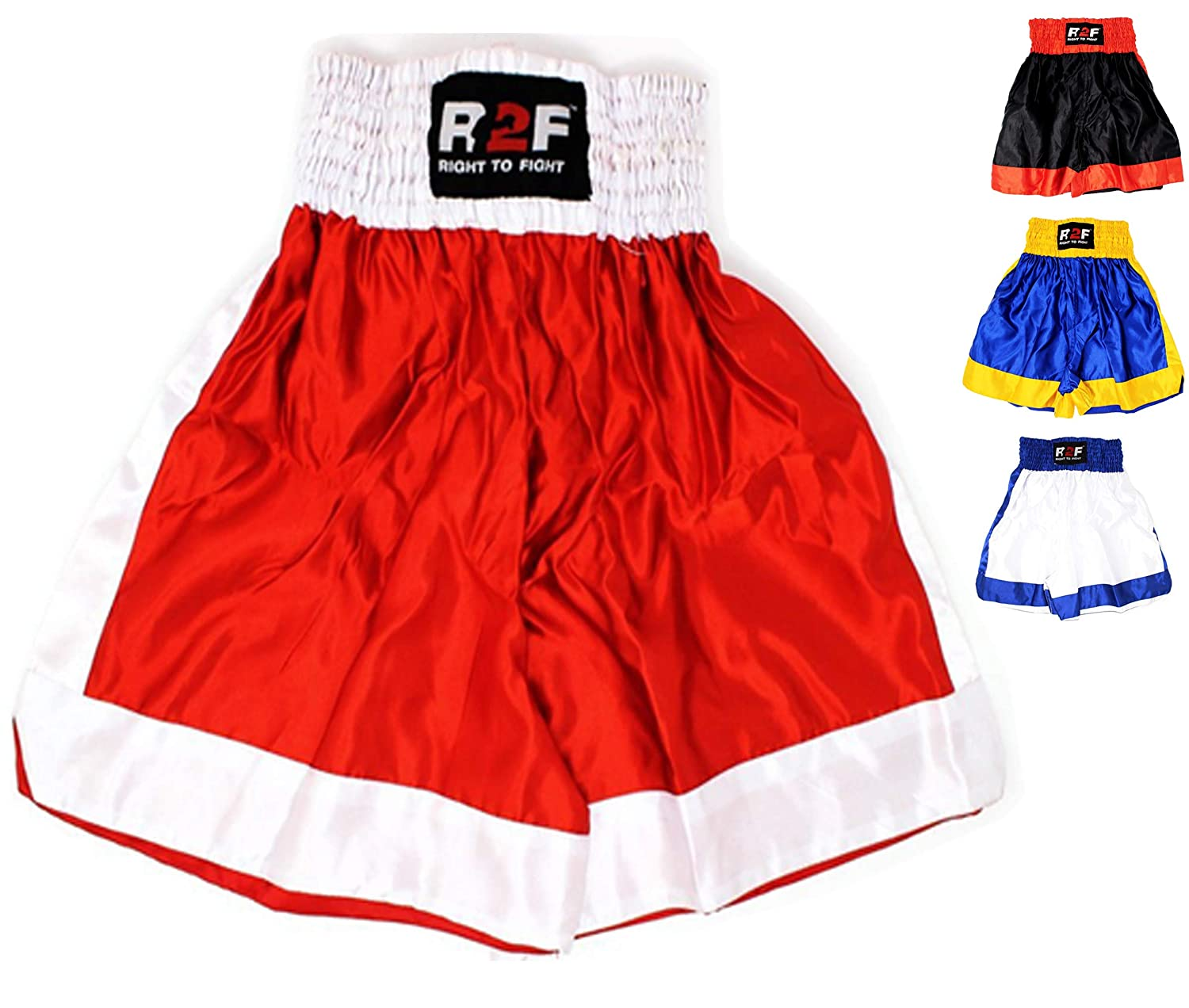 R2F Sports Boxe Les Troncs Arts Martiaux Muay Thai MMA Bas Kickboxing Combat Entraînement Short