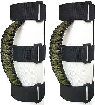 Black//Red 2 x Roll Bar Grab Handles Grip Handle for Jeep Wrangler YJ TJ JK JKU JL JLU Sahara Rubicon X Sports Freedom /& Unlimited 1987-2020