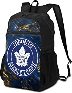 Toronto Maple Leaves Logo Folding Backpack Portable Storage Bag