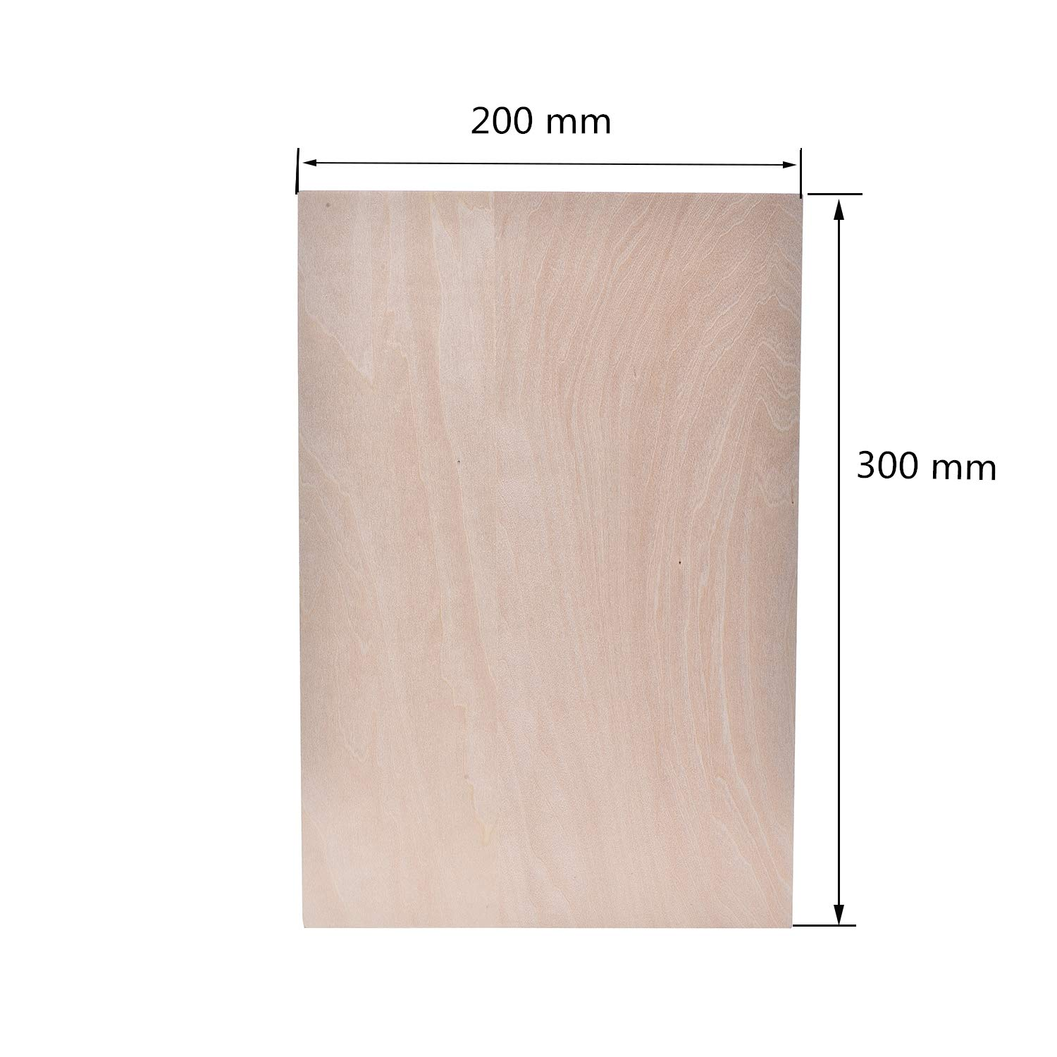 1.5mm/×300 mm /×200 mm Thin Basswood Sheet for Cricut Maker,Plywood Wood Piece for Crafts