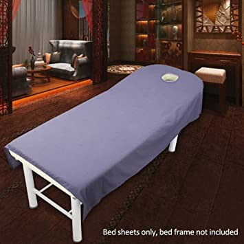 Beauty Massage Bed Sheets With Hole Massage Sponge Fitted Sheet Spa Massage  Treatment Soft Sheets Cosmetic