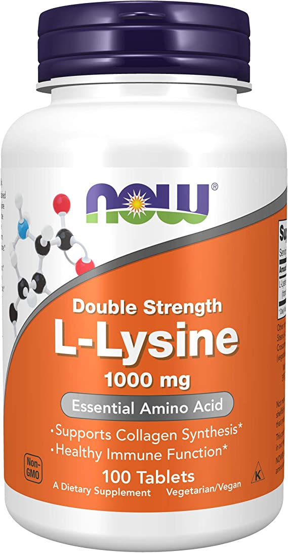 Now Foods, L-Lisina, 1.000 mg, 100 Tabletas, sin soja, sin gluten