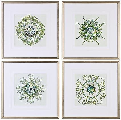 Amazon.com: Uttermost Organic Symbols Wall Art - Set of 4: Posters ...