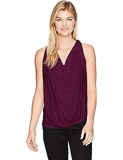 7d79571846 Amazon.com  Michael Stars Sheer Jersey Draped Halter (Black)  Clothing