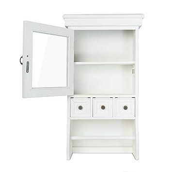 Küchenschrank weiß landhausstil  elbmöbel H60 x B34 x T16cm Wandschrank Küchenschrank Landhaus weiß ...