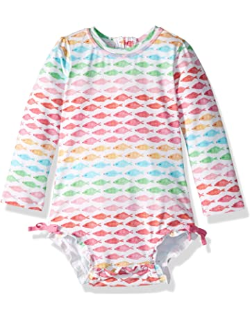 9936582372 Hatley Baby Girls' Rash Guard Swimsuits