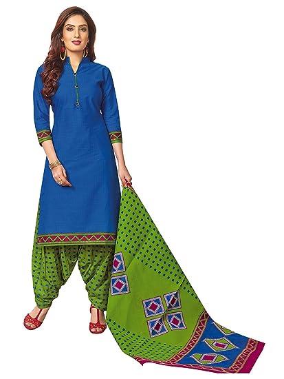 61d49b61b Jevi Prints Women s Cotton Printed Stitched Readymade Punjabi Suit With  Dupatta (CP-179 XL)