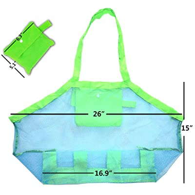 DIRK Beach Mesh Tote Bag Beach Toys Bag Children's Toys Store Bag: Clothing