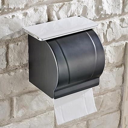 MOMO Bandeja de Cobre Antigua del Papel higiénico, Caja Impermeable del Cuarto de baño,