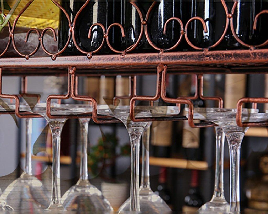 sostenedor de la cristalería Estante del Vino Creativo Que cuelga Tamaño : 100 * 25cm Yxsd Estante del Vino Negro