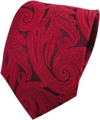 TigerTie diseñador corbata de seda - rojo púrpura carmín Paisley ...