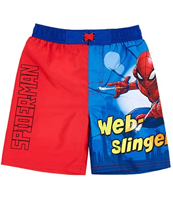 60e3d0957b Spider-Man Boys Swim short - red: Amazon.co.uk: Clothing