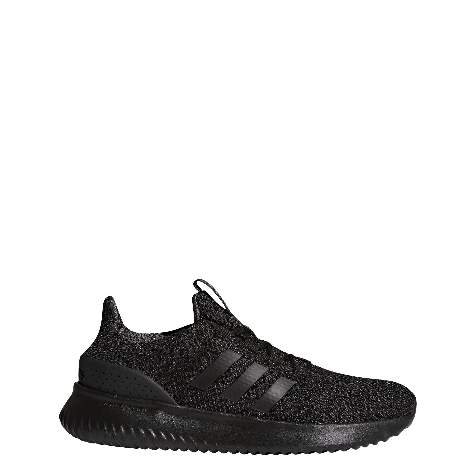 adidas Men's Cloudfoam Ultimate Running Shoe, Black/Black/Utility Black, 10.5 M US by adidas
