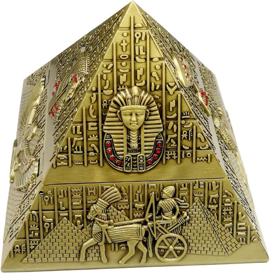 Cenicero de Cigarrillos con Tapa para Uso en Interiores al Aire Libre, Titular de Ceniza para Regalo de Fumadores para Hombre-pirámide de Egipto