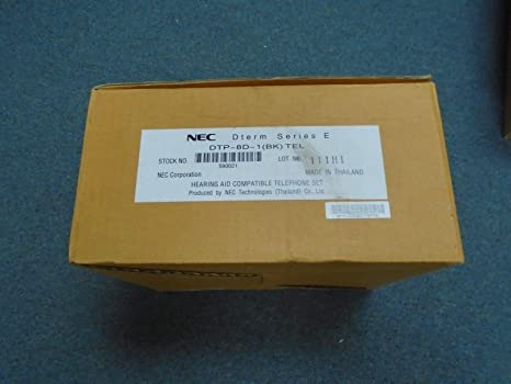 New! Dtp-8d-1 nec dterm series e hearing aid compatible telephone.