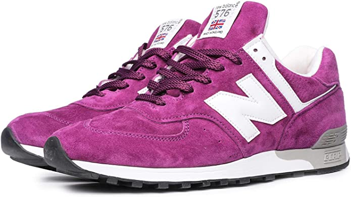New Balance 576 Sneakers Damen Wildleder Lila Made in England