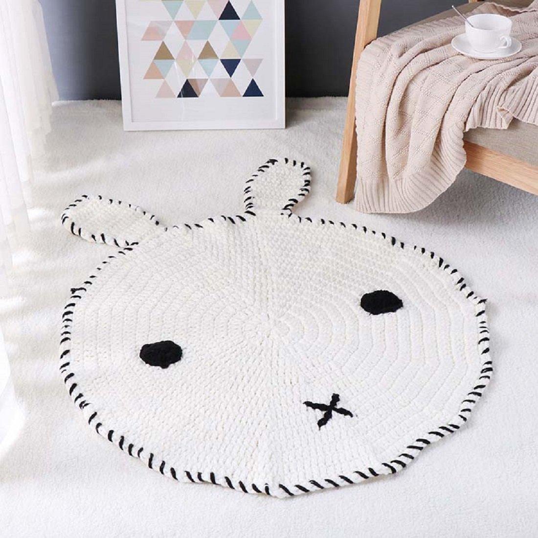 Bebé Juego Manta Cartoon Animal Fox redondo alfombra de piso ...