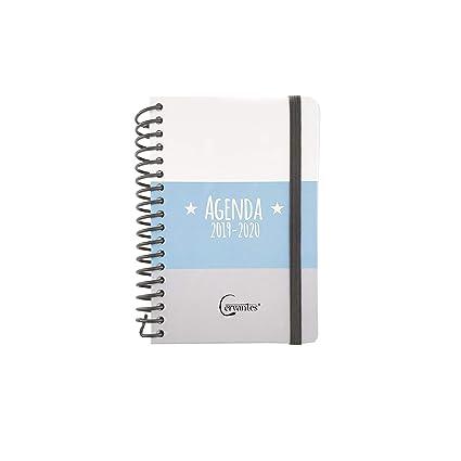Agenda Escolar 2019-2020 formato pequeño (120x160 mm) español (Azul Ralla)