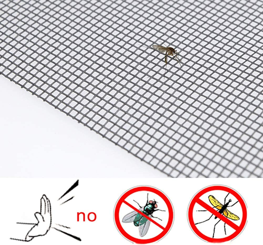 Moquito//Insect Barrier Invisible /& Fireproof 48x100 Shatex Window Screen Mesh DIY Fiberglass Screen Replacement Black Mesh Fabric