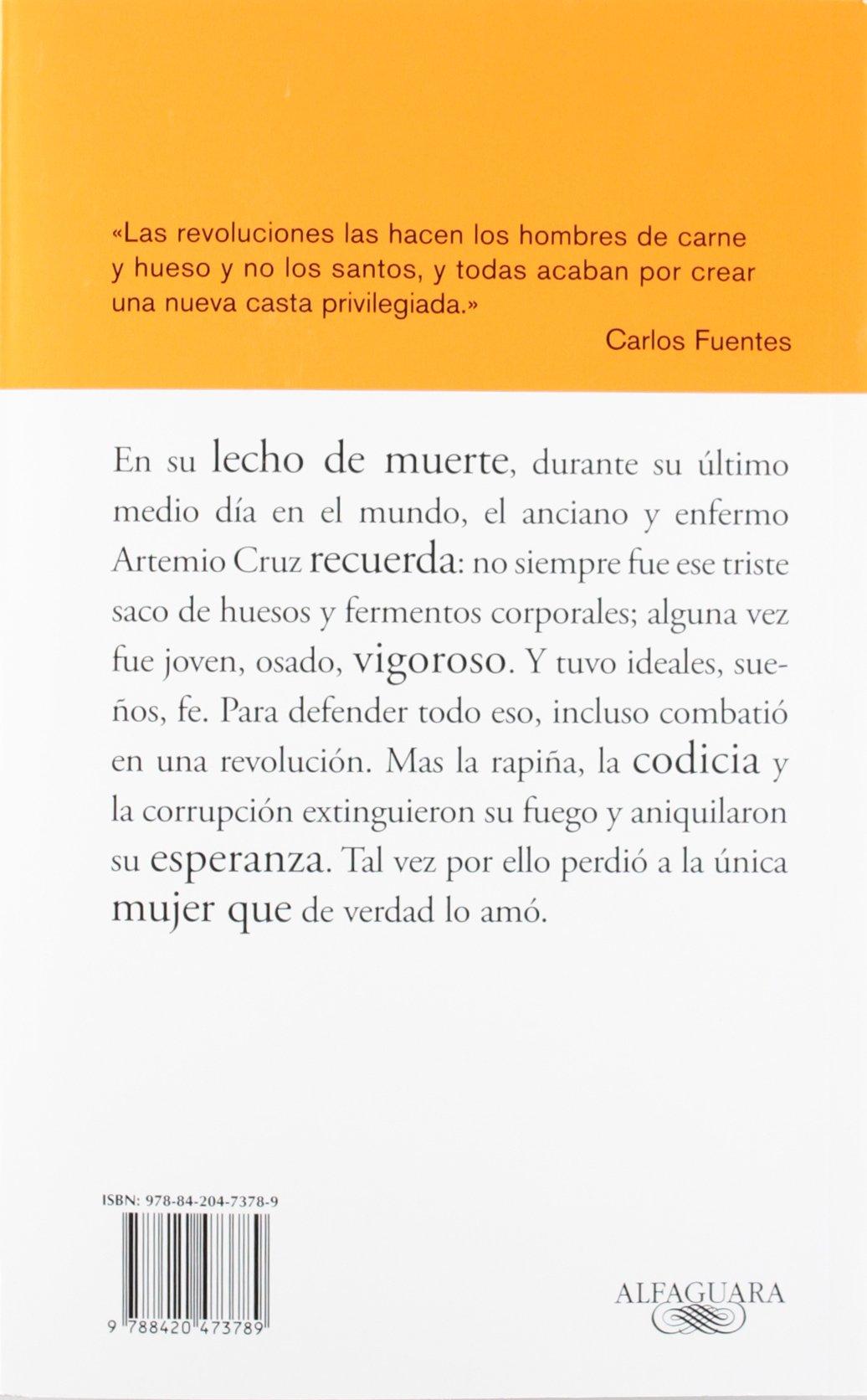 La muerte de Artemio Cruz (BIBLIOTECA CARLOS FUENTES): Amazon.es: Carlos Fuentes: Libros